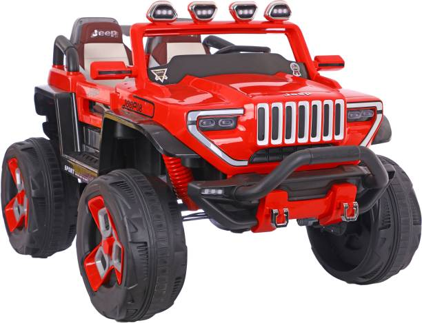 Toy House SUV Safari Rechargeable Battery Operated Ride-on Swing function Jeep with Remote for kids(3 to 6 yrs),Red Car Battery Operated Ride On