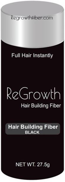 Regrowth hair building fibres, full hair instantly