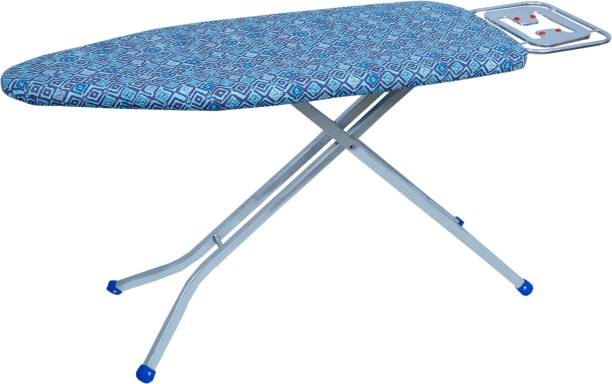 MEDED CGS King Size Premium International Quality Ironing Board/ Iron Table Stand With Press Holder, Foldable & Height Adjustable (122 X 46 cm) Geometric Print Ironing Board