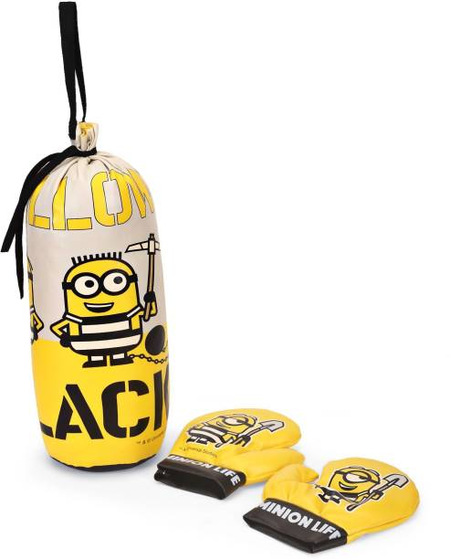 Minion Kid Punching Bag With Boxing Glove