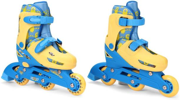 Minion 2IN1 INLINE ADJUSTABLE ROLLER SKATE EXTRA SMALL SIZE Skates & Skateboard
