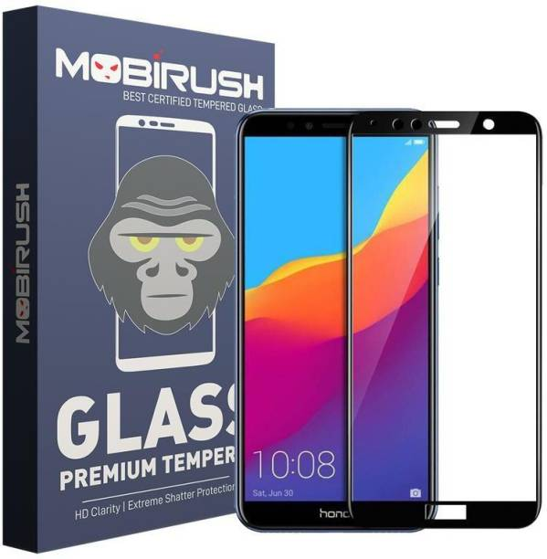 MOBIRUSH Edge To Edge Tempered Glass for Huawei Y7 Prime 2018