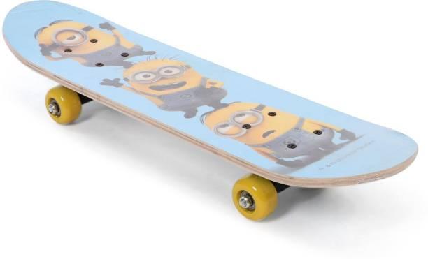 My Baby Excels Minions Trio Blue Skateboard Skates & Skateboard