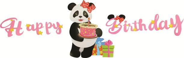 Skylofts Birthday Decorations Items for Girls - Big Panda Style Happy Birthday Banner Party Propz For Girls Birthday Party Banner