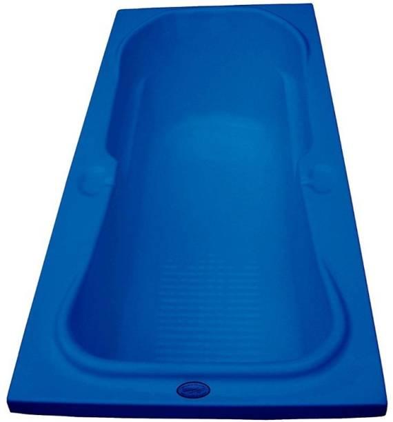 MADONNA REXFIXALP118 Rex Acrylic 5.5 feet Rectangular Bathtub - Alpine Blue Undermount Bathtub
