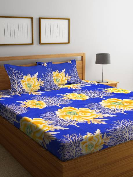 Bombay Dyeing 160 TC Microfiber Double Floral Bedsheet