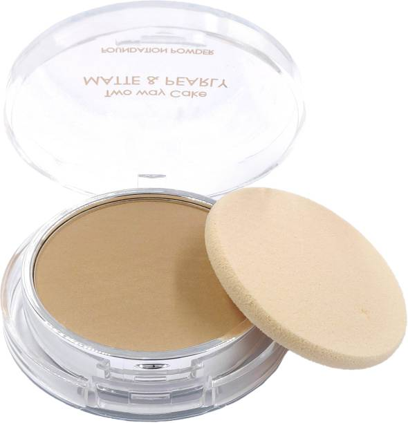 One Personal Care Two Way Cake (Dark Beige) Pressed Powder Compact