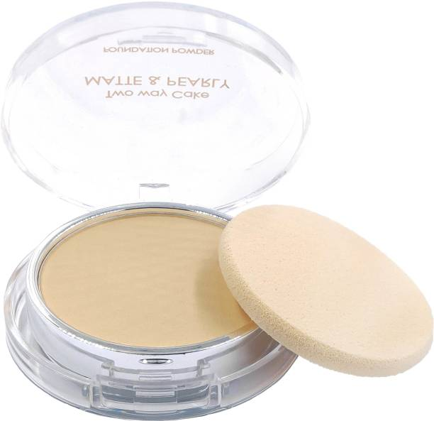 One Personal Care Two Way Cake (Skin Beige) Pressed Powder Compact