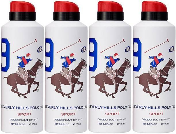 BEVERLY HILLS POLO CLUB Four No. 9 Deodorant Spray  -  For Men