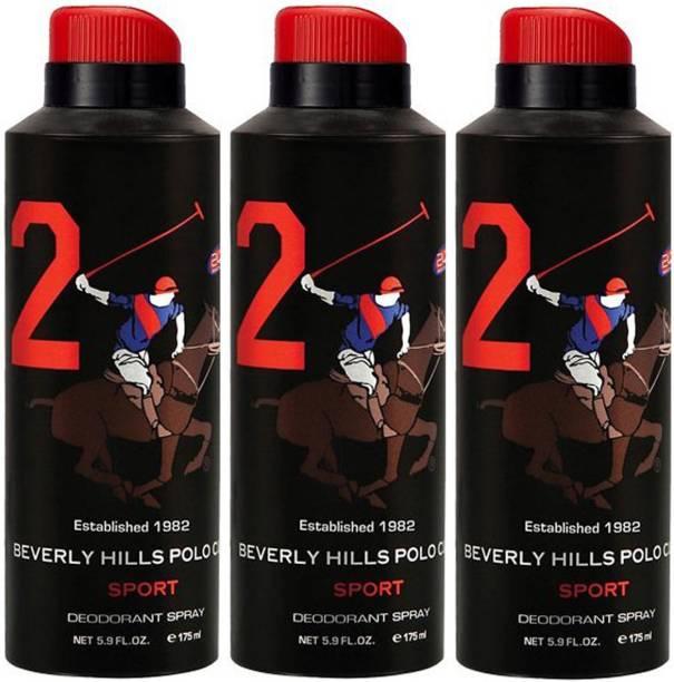 BEVERLY HILLS POLO CLUB Three No. 2 Deodorant Spray  -  For Men