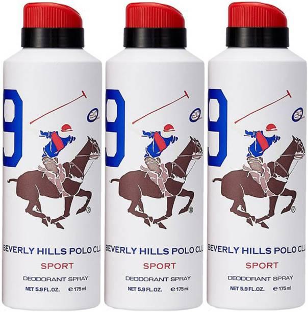BEVERLY HILLS POLO CLUB Three No. 9 Deodorant Spray  -  For Men