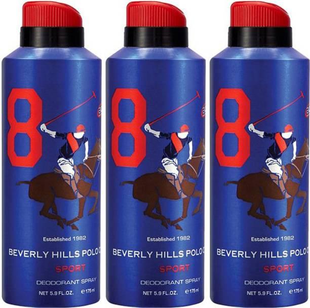 BEVERLY HILLS POLO CLUB Three No. 8 Deodorant Spray  -  For Men