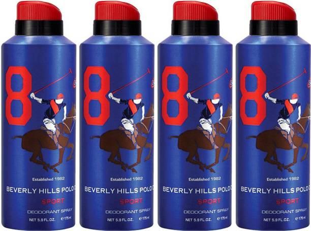BEVERLY HILLS POLO CLUB Four No. 8 Deodorant Spray  -  For Men