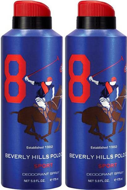 BEVERLY HILLS POLO CLUB Two No. 8 Deodorant Spray  -  For Men