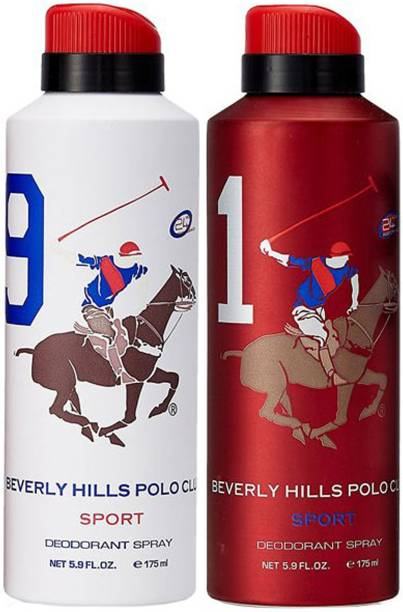 BEVERLY HILLS POLO CLUB One No. 9 and One No. 1 Deodorant Spray  -  For Men