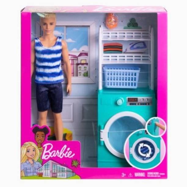 BARBIE Ken Doll & Laundry Playset