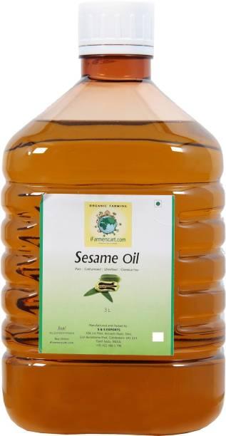 iFarmerscart Sesame | Gingelly Oil Sesame Oil Plastic Bottle