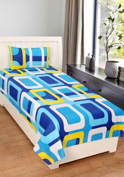 Home Elite 124 TC Cotton Single Geometric Bedsheet