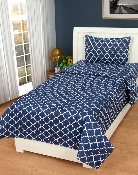 Home Elite 120 TC Cotton Single Floral Bedsheet