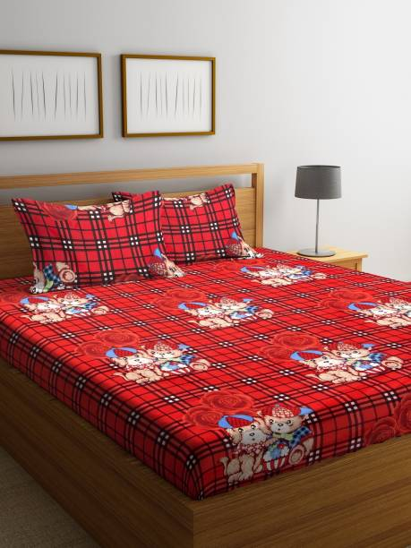 Bombay Dyeing 160 TC Microfiber Double Abstract Bedsheet