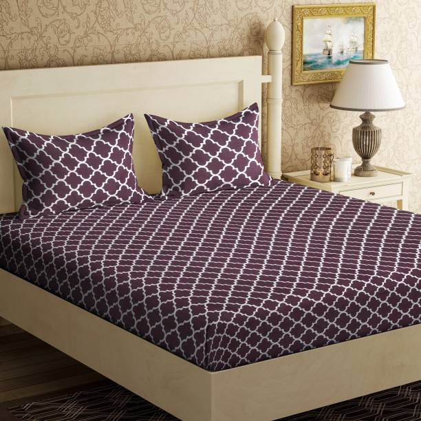 Home Elite 104 TC Cotton Double Abstract Bedsheet