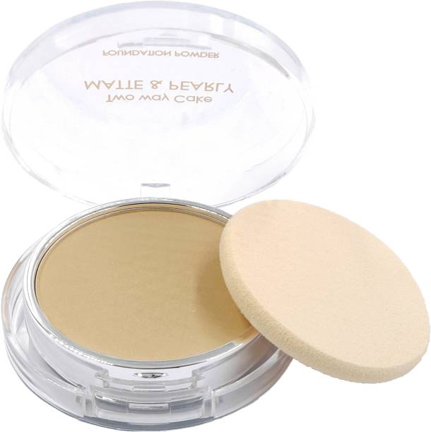 One Personal Care Two Way Cake (Natural Beige) Pressed Powder Compact