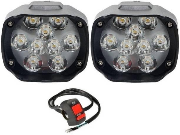 AutoCart Fog Lamp LED for Hero, Honda, Suzuki, Yamaha, Mahindra, TVS, Bajaj, Royal Enfield, KTM