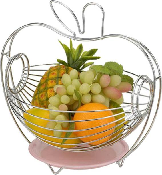Mantavya Stainless Steel Swing Fruit & Vegetables Basket/Fruit Basket for Dining Table Stainless Steel Fruit & Vegetable Basket