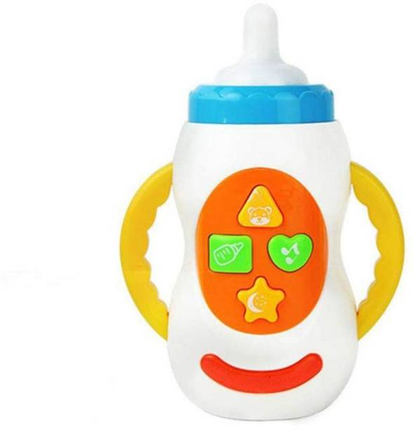 Toy Jumble Baby Pretend Play Feeding Bottle Musical Toy for Little Ones with Light and Sound Effects