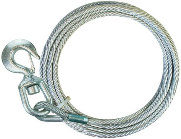 Chromoto ™ Galvanized Steel Core Winch Cable With Swivel Hook - 15,100 lbs. Minimum Breaking Strength 4.5 m Towing Cable