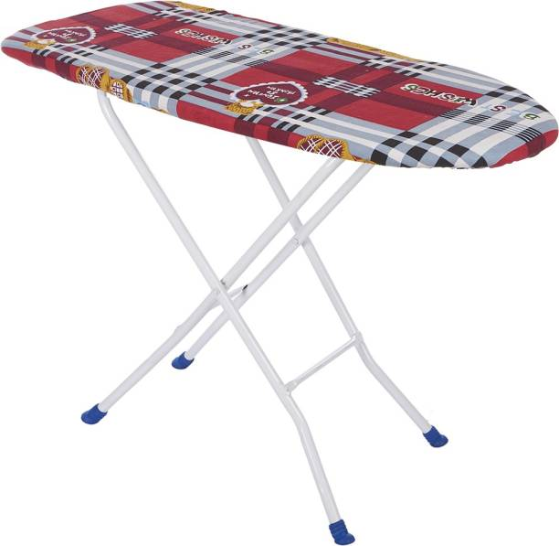 NHR Wooden Foldable Ironing Board with Iron Stand(Red) Ironing Board