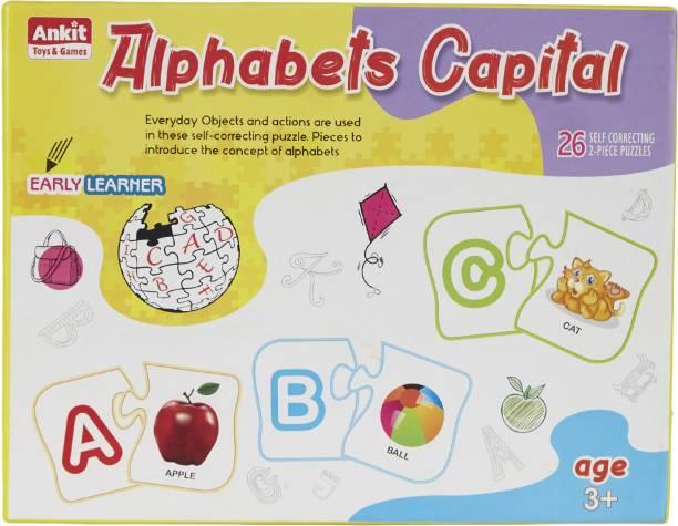 Ankit Colourful Educational / Preschool Capital Alphabets Puzzle Set for Kids