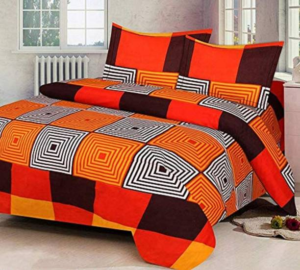 Swiss India 140 TC Polycotton Double 3D Printed Bedsheet