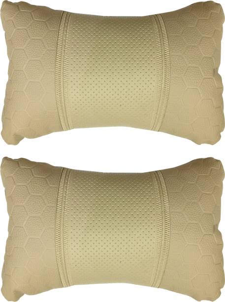KANDID Beige Leatherite Car Pillow Cushion for Mahindra
