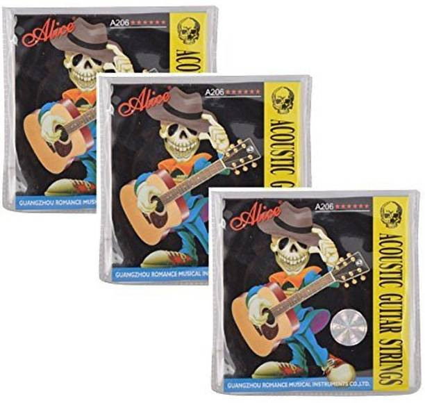 ALICE Acoustic PC A206 Guitar string Set (Pack of 3) Guitar String