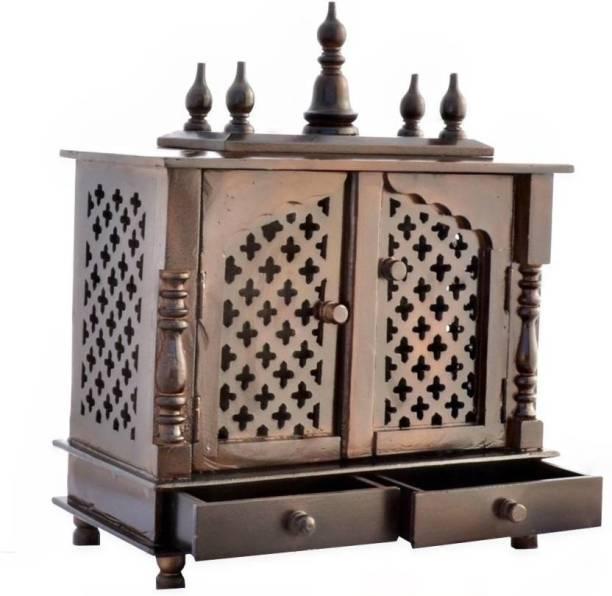 Marusthalee Wood Temple Pooja Mandir Solid Wood Home Temple