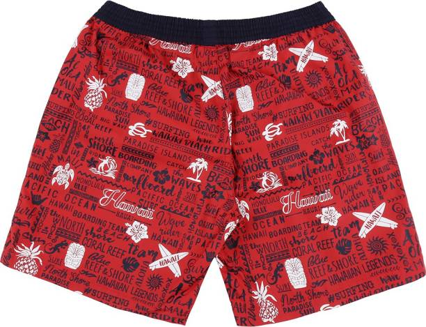 GINI & JONY Short For Boys Casual Graphic Print Cotton Blend