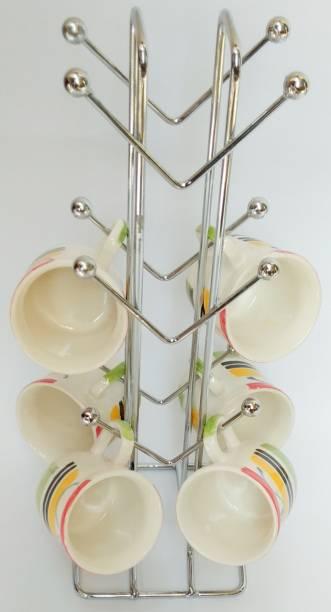 DSMARKET stainless steel cup stand kitchen rack Cup Kitchen Rack