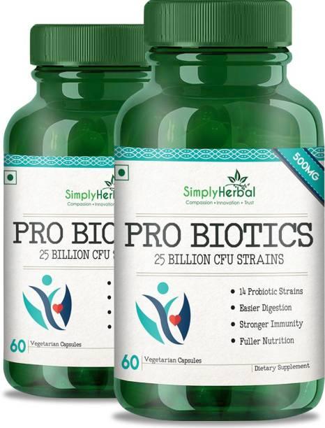 Simply Herbal Probiotics 25 Billion Per Capsule, 14 Probiotic Strains, 60 Veg Capsules(2)