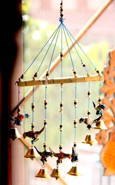 Craft Junction Handcrafted Bird Design Wood Windchime