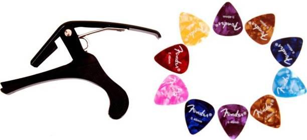 PENNYCREEK Guitar Capo With 10 Picks Spring Guitar Capo