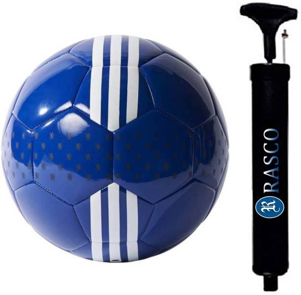 RASCO COMBO CHELSEA BLUE FOOTBALL WITH AIR PUMP Football - Size: 5
