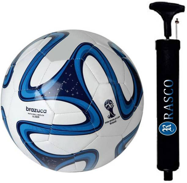 RASCO COMBO BLUE COLOR FOOTBALL WITH AIR PUMP Football - Size: 5