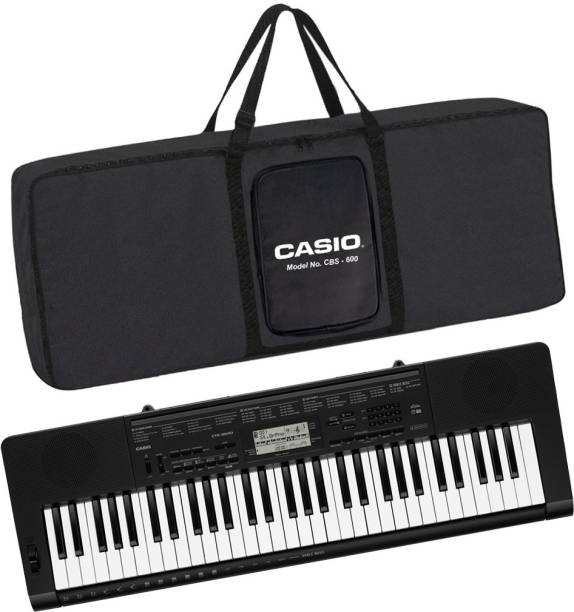 CASIO KS40 + CBC600 Black CTK-3500 + CBC600 Black Carry Case Digital Portable Keyboard