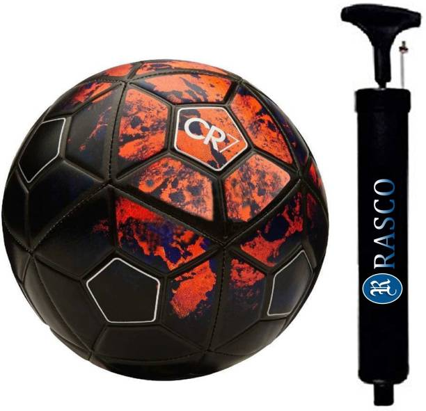 RASCO COMBO CR SEVEN RED FOOTBALL WITH AIR PUMP Football - Size: 5