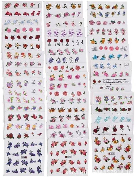 Style Craze 10 Sheets Nail Stickers Mixed Designs Water Transfer Nail Art Sticker Flower Watermark Decals DIY Decoration For Beauty Nail Tools (Mixed)