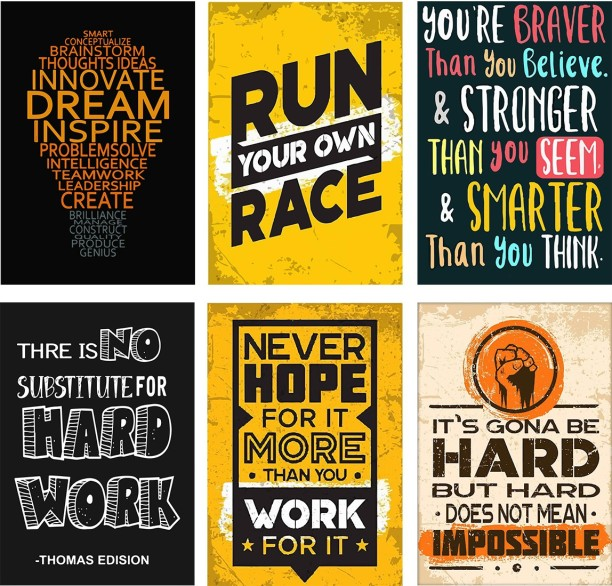 6 PICTURE PRINT MOTIVATIONAL  POSTER RUNNING INSPIRATIONAL