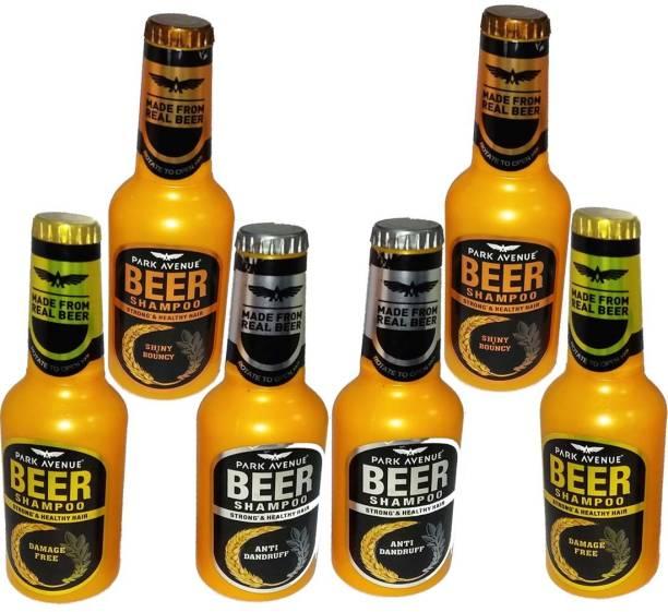 PARK AVENUE Beer Shampoo Shiny & Bouncy, Anti Dandruff & Damage Free