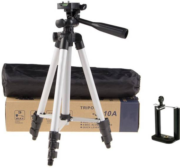 m s megaslim Portable Tripod-3110 With Three-Dimensional Head & Quick Release Plate For Video Cameras and mobile holder mount for Smartphones Tripod