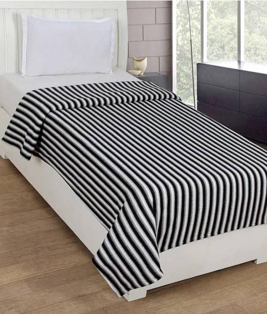 siddh products Striped Double Fleece Blanket
